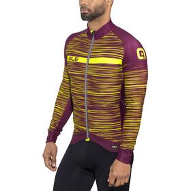 Alé Cycling Graphics PRR The End LS Jersey Herren bordeaux-fluo yellow